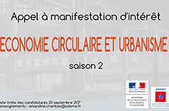 Économie circulaire et urbanisme : appel à projets de l'Ademe