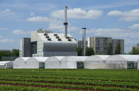 Biowatts, une chaufferie biomasse proche de la nature et des b�timents � Sara
