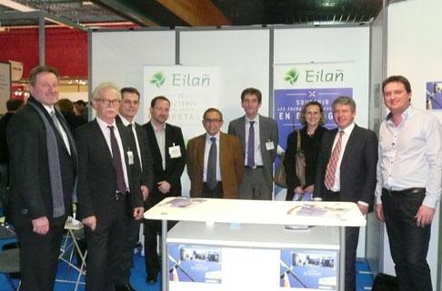 Les actionnaires d'Eilañ au Salon biogaz Europe (janvier 2014) © Semaeb