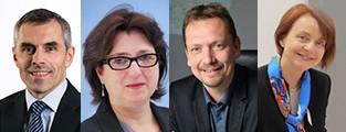 De g. à dr. : Franck Masselus, Sylvie Lebec, Olivier Jautzy et Natacha Schreiber. Photo DR