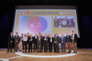 Les lauréats des Trophées des Entreprises publiques locales 2018 réunis au Congrès des Epl, le 5 décembre à Rennes. Photo FedEpl ©Stéphane Laure