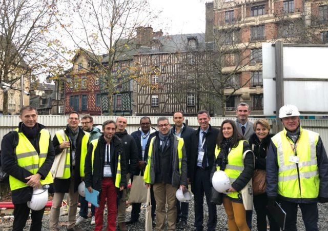 Visite du centre ancien de Rennes organisée par l'Epl Territoires Rennes le 4 décembre 2018 à l'occasion du Congrès des Epl. Photo FedEpl