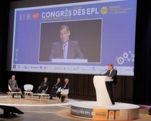 Jean-Marie Sermier, président de la Fédération des Entreprises publiques locales, en clôture du Congrès de Rennes le 6 décembre 2018. Photo FedEpl ©Stéphane Laure