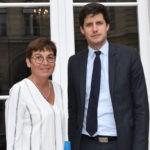 Annick Girardin et Julien Denormandie en septembre 2018, à l'issue de leur entretien sur le Livre bleu en faveur du logement. Photo DR