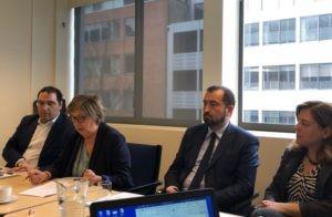Mercedes Bresso, eurodéputée italienne, intervient au bureau du CEEP le 2 avril à Bruxelles.