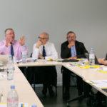 Guy Le Bras, directeur général du Gart, reçoit la Commission mobilité de la FedEpl, le 9 avril 2019, à Paris. ©Stéphane Laure